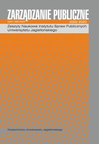 Zarządzanie Publiczne, 2020/6, Numer 2 (50)